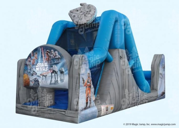 16ft Star Wars Dual Lane Water Slide