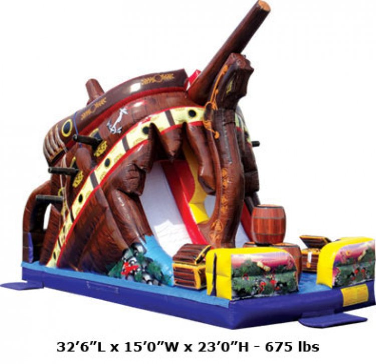 Wrecked Pirate Ship Slide