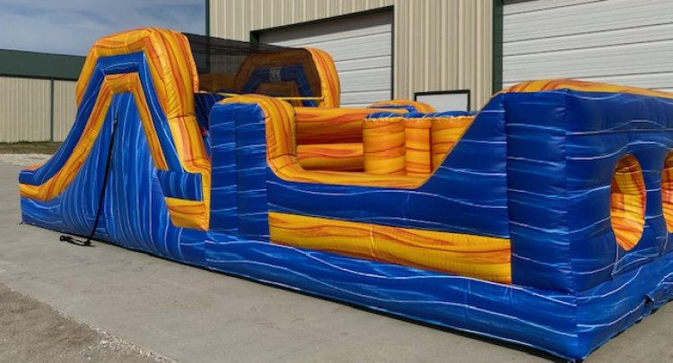 32ft Blue Blast Obstacle Course