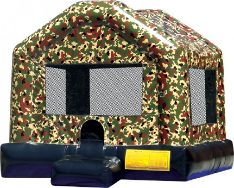 Camo Military Bounce House (Large)