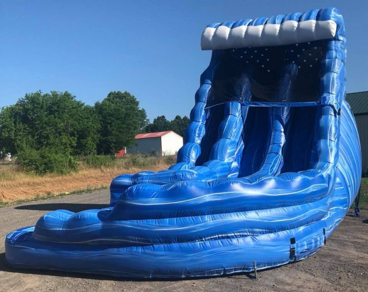 18ft Ocean Curvy Water Slide