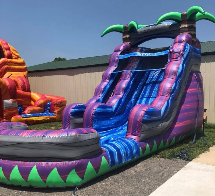 15ft Purple Crush Water Slide