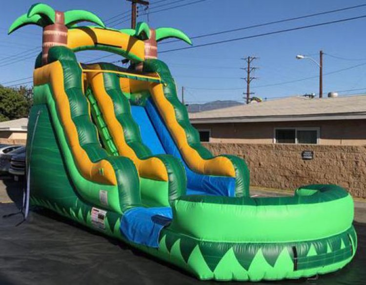 15ft Tropical Rush Water Slide