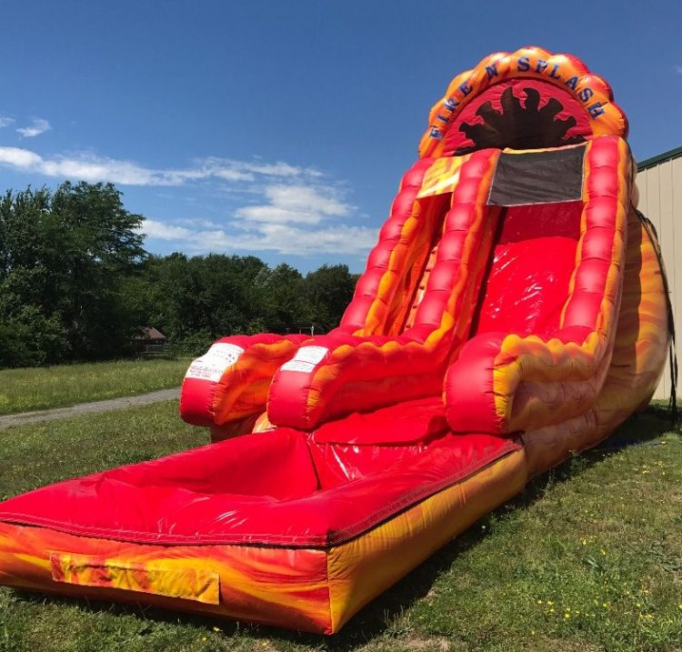 20ft Fire N Splash Water Slide