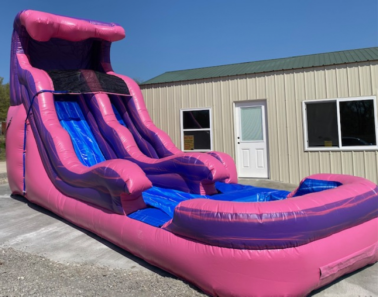 15ft Cotton Candy Wave Water Slide