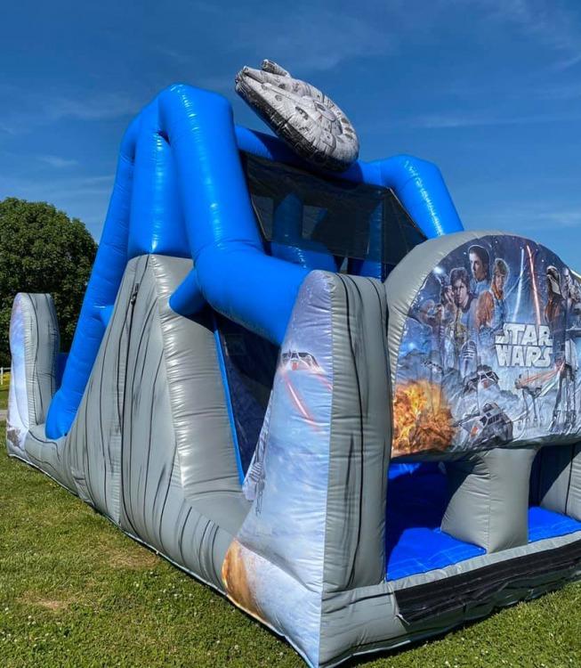 16ft Star Wars Dual Lane Water Slide - Oklahoma Bounce